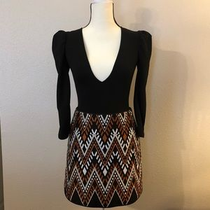 NWOT DKNY Woven Boho Print Mini Skirt!